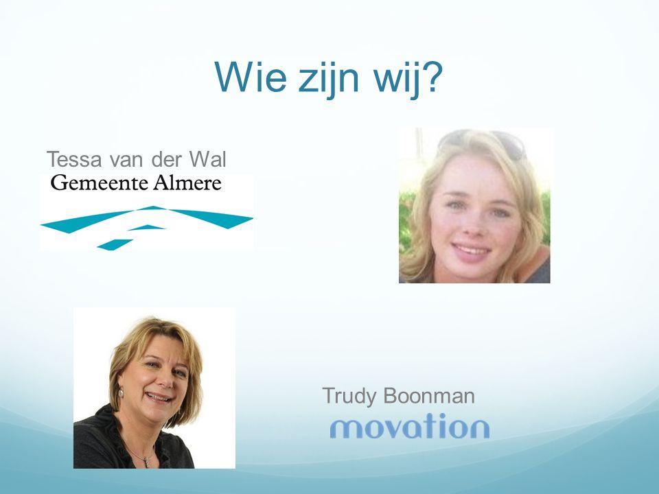 Wie zijn wij? Tessa van der Wal Trudy Boonman