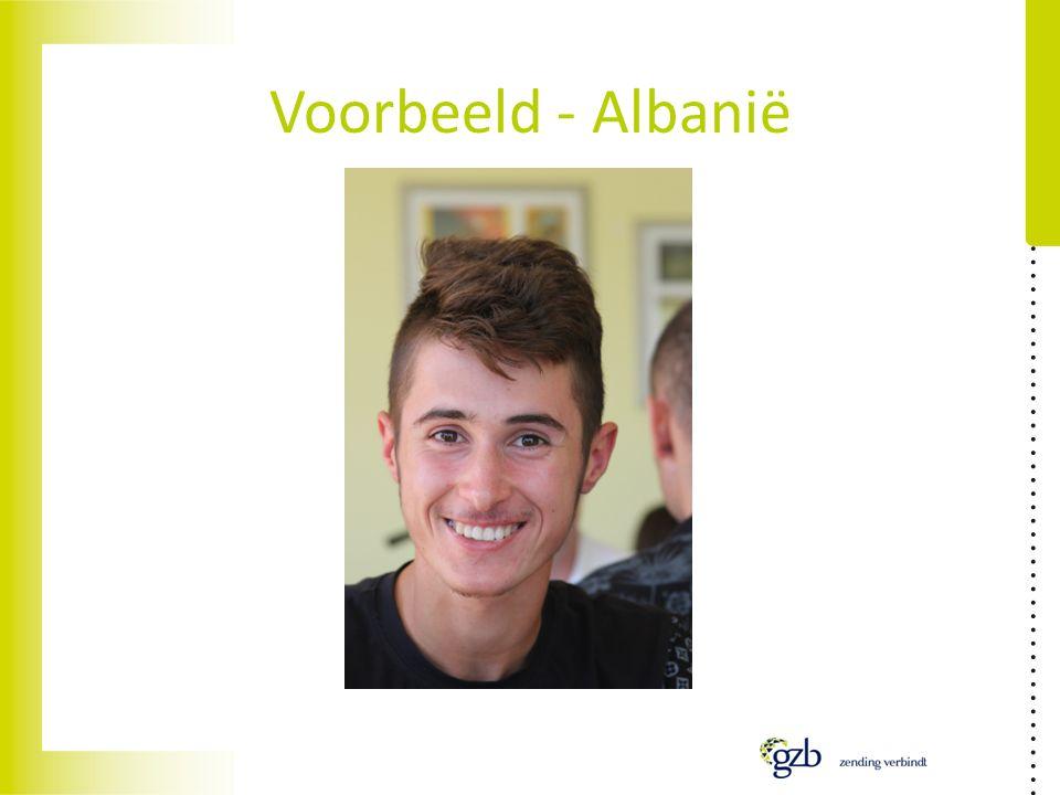 Voorbeeld - Albanië