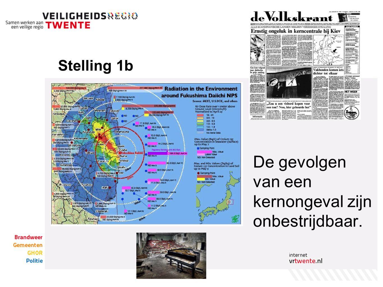 Stelling 1b De gevolgen van een kernongeval zijn onbestrijdbaar.