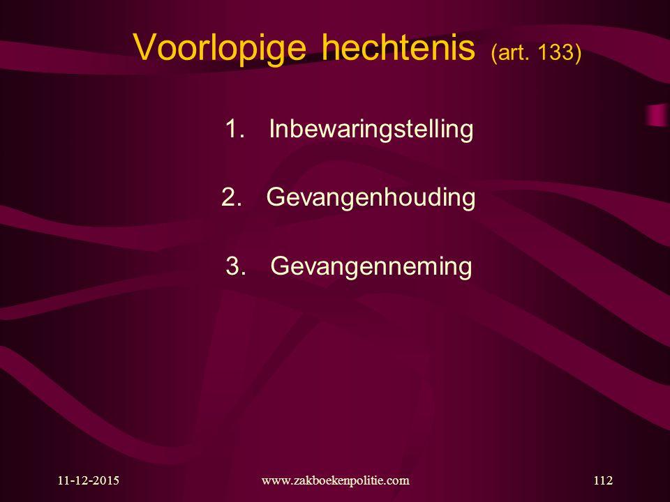 11-12-2015www.zakboekenpolitie.com112 Voorlopige hechtenis (art.
