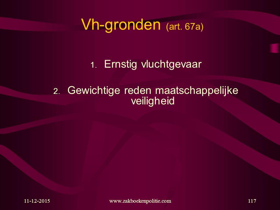 11-12-2015www.zakboekenpolitie.com117 Vh-gronden (art.