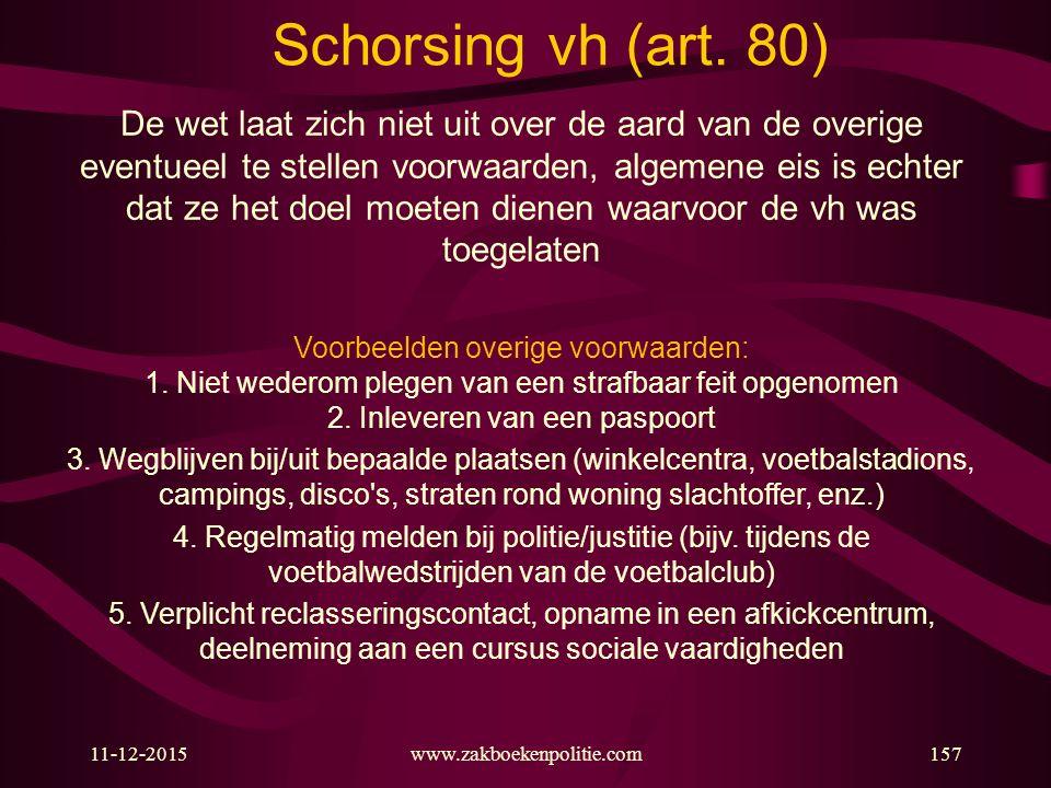 11-12-2015www.zakboekenpolitie.com157 Schorsing vh (art.