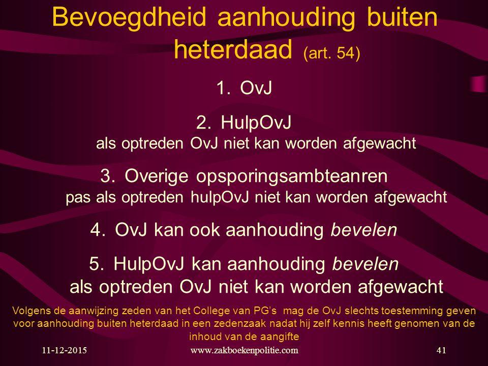 11-12-201541 Bevoegdheid aanhouding buiten heterdaad (art.