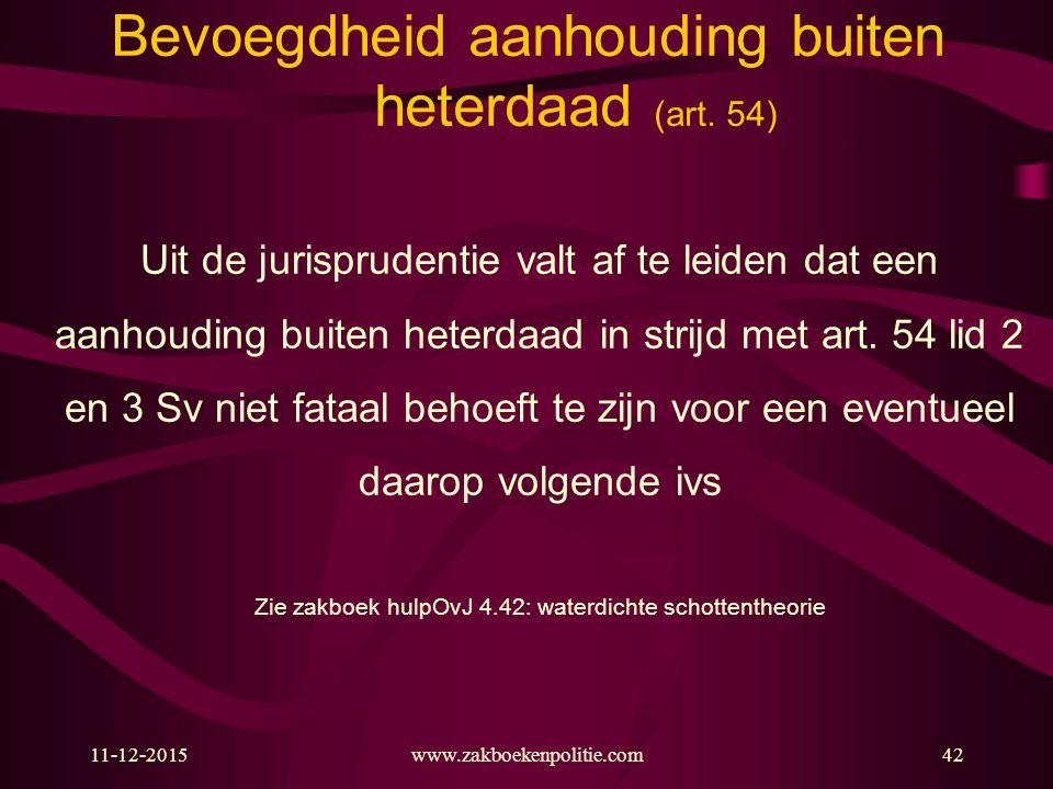 11-12-201542 Bevoegdheid aanhouding buiten heterdaad (art.