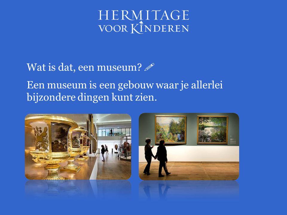 Wat is dat, een museum  Een museum is een gebouw waar je allerlei bijzondere dingen kunt zien.