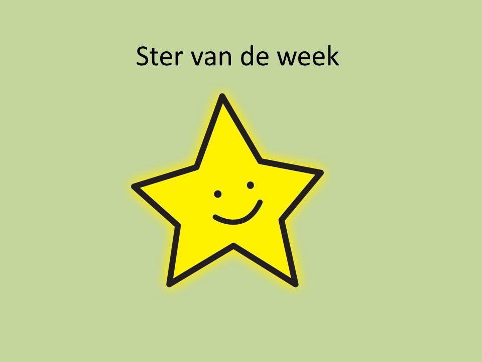 Ster van de week