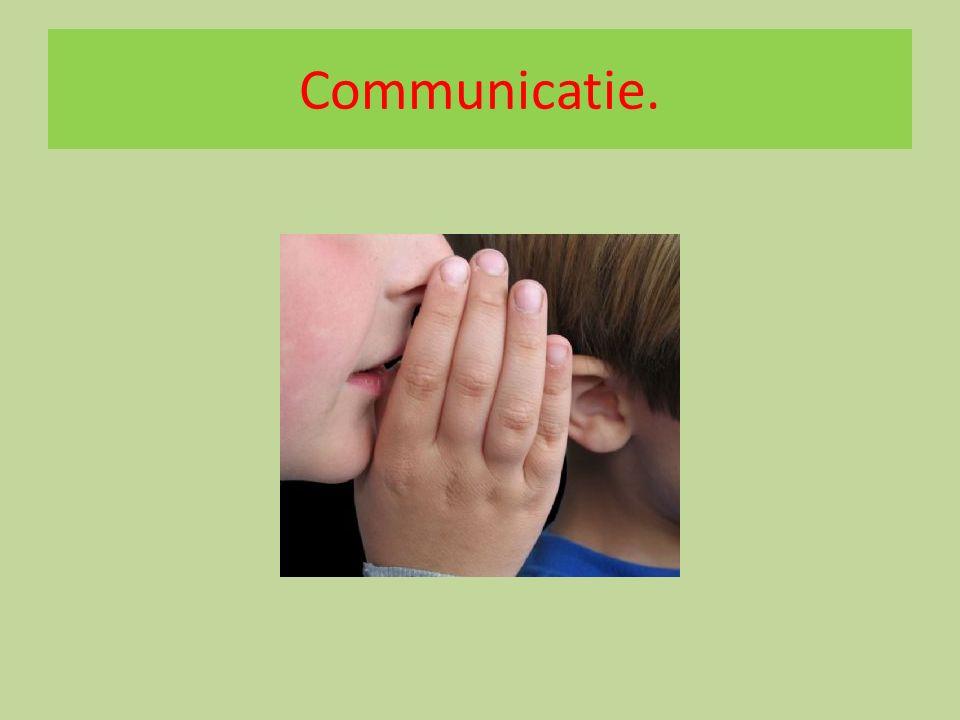 Communicatie.