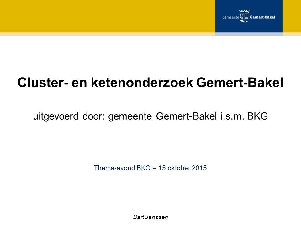 Cluster- en ketenonderzoek Gemert-Bakel uitgevoerd door: gemeente Gemert-Bakel i.s.m.