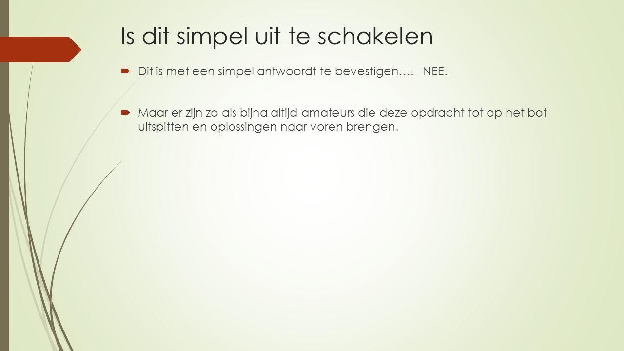 Is dit simpel uit te schakelen  Dit is met een simpel antwoordt te bevestigen….