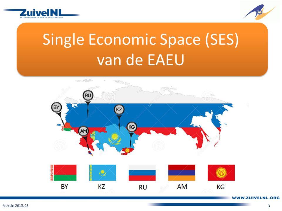 Single Economic Space (SES) van de EAEU Versie 2015.03 3