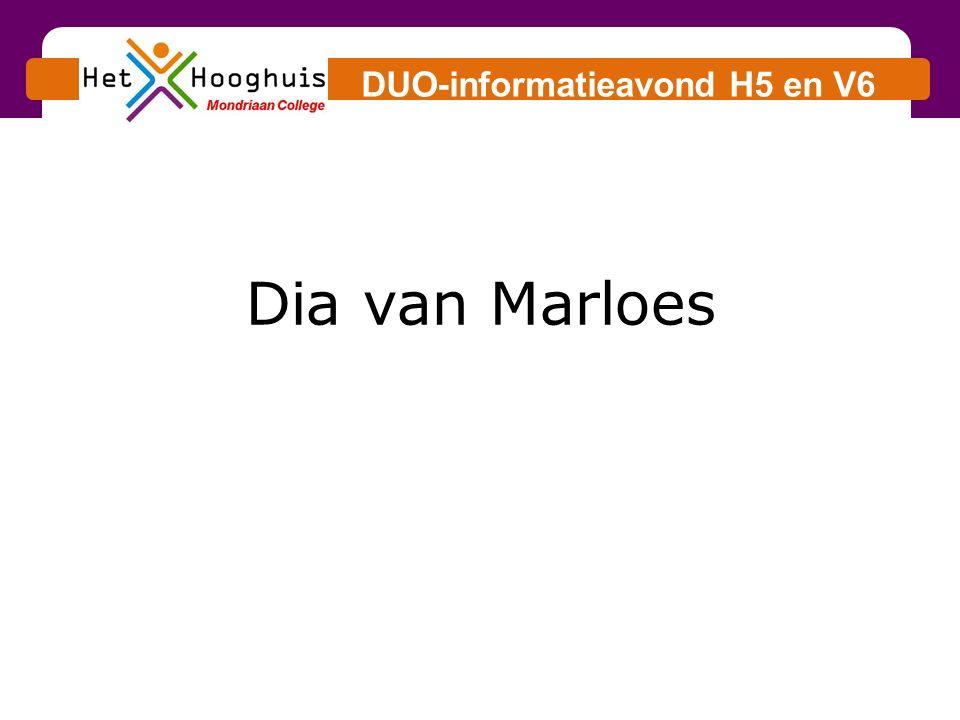 DUO-informatieavond H5 en V6 Dia van Marloes