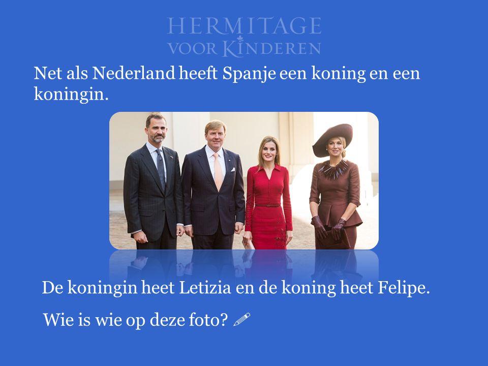 Net als Nederland heeft Spanje een koning en een koningin. De koningin heet Letizia en de koning heet Felipe. Wie is wie op deze foto? 