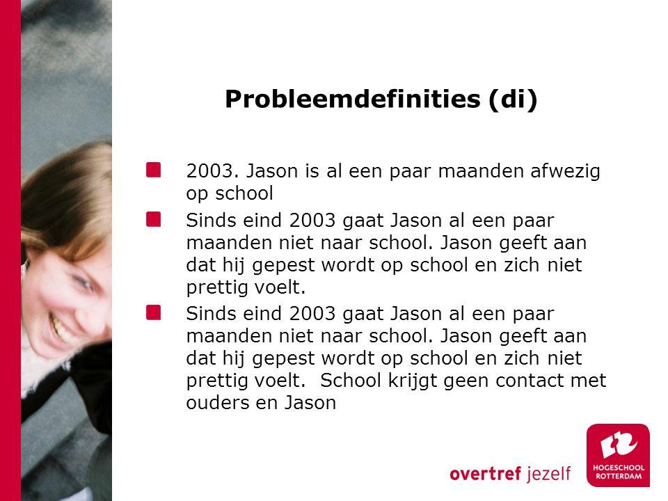 Probleemdefinities (di) 2003.