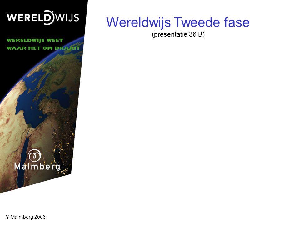 Wereldwijs Tweede fase (presentatie 36 B) © Malmberg 2006