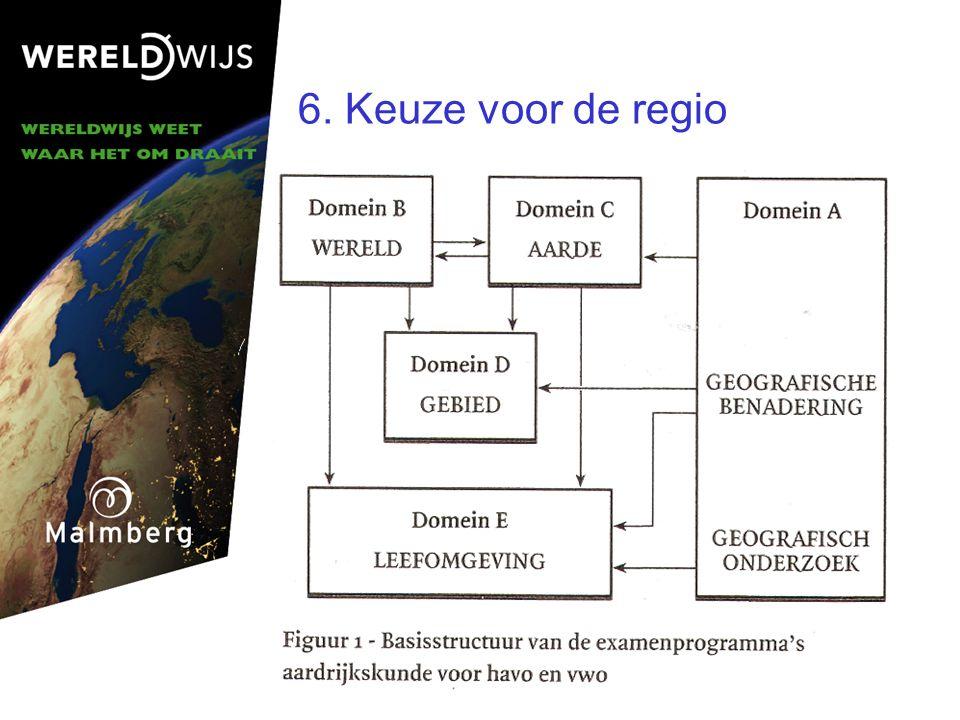 6. Keuze voor de regio