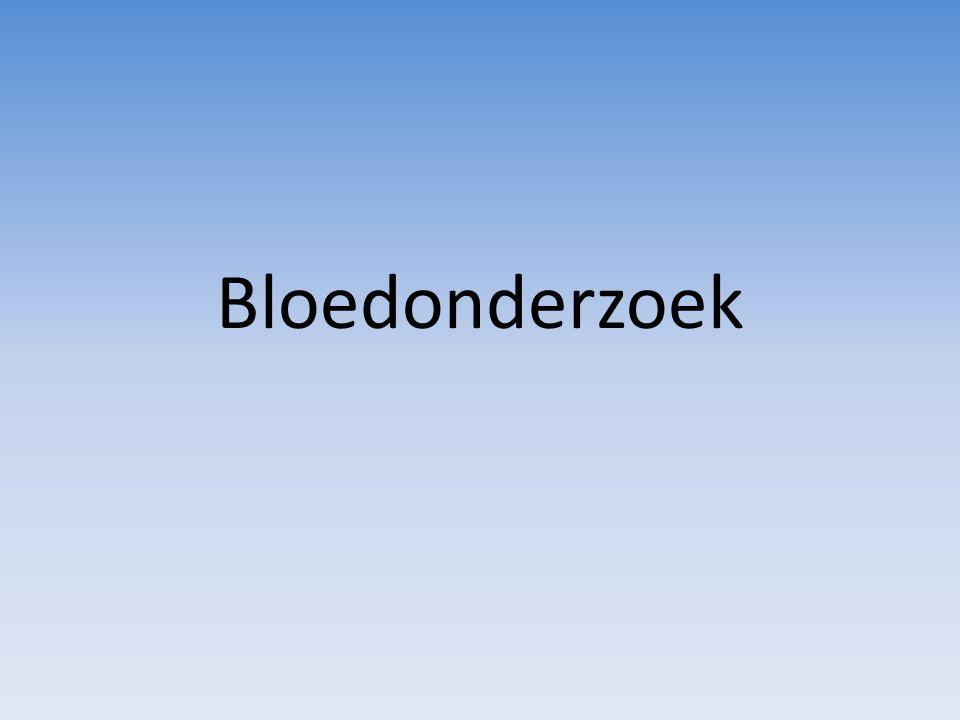 De samenstelling van bloed Bloedplasma: – Water – Eiwitten, zouten, voedingsstoffen, afbraakproducten, hormonen, stollingsfactoren Cellen: – Erytrocyten (rode bloedcellen) – Leukocyten (witte bloedcellen) – Trombocyten (bloedplaatjes)