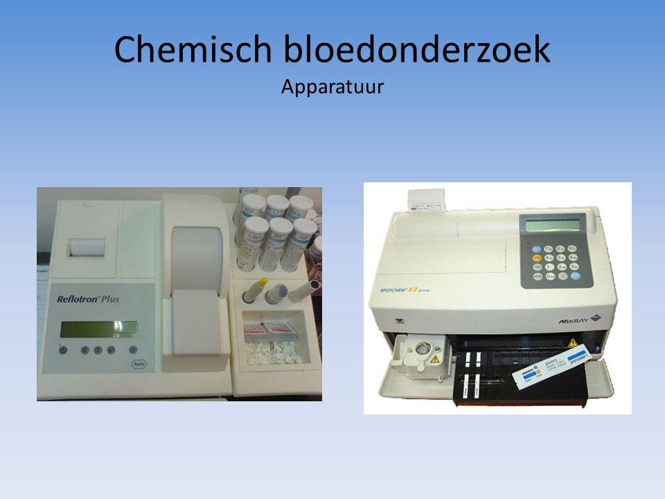 Chemisch bloedonderzoek Apparatuur