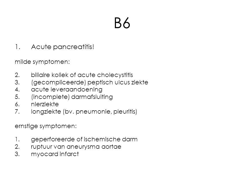 B6 1.Acute pancreatitis.