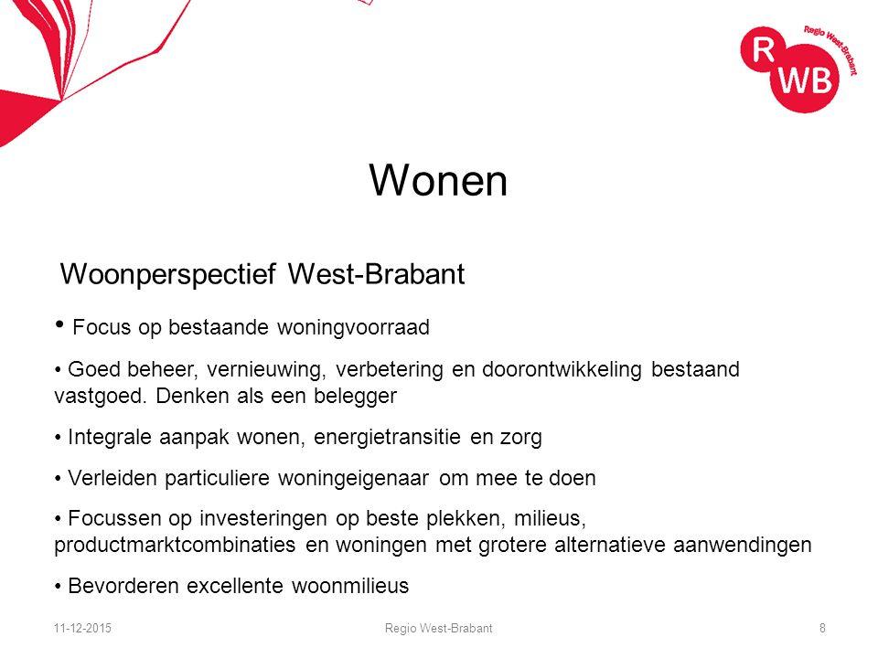 Wonen Woonperspectief West-Brabant Focus op bestaande woningvoorraad Goed beheer, vernieuwing, verbetering en doorontwikkeling bestaand vastgoed.