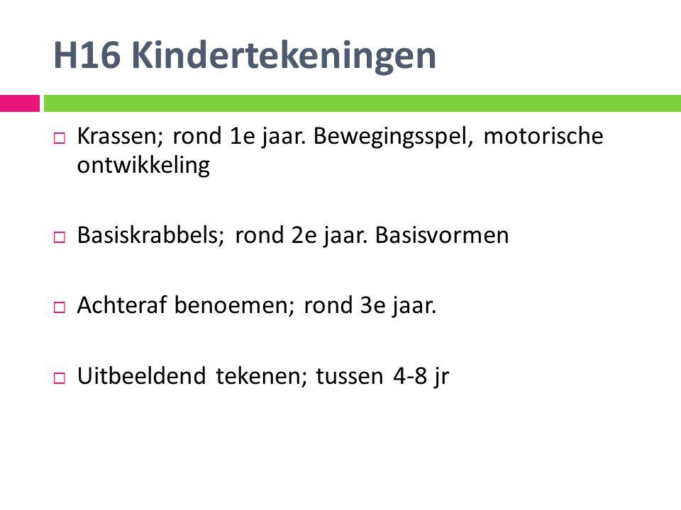 H16 Kindertekeningen  Krassen; rond 1e jaar.