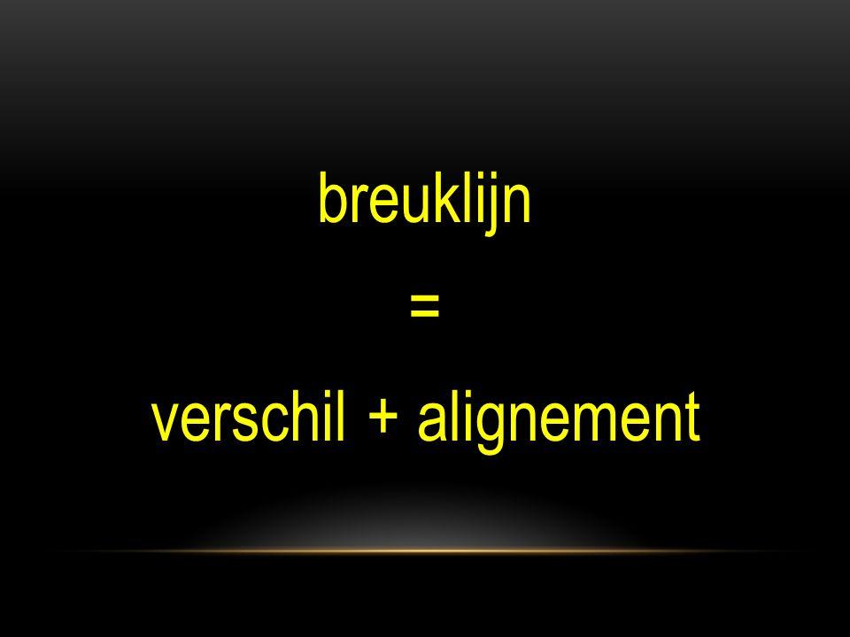breuklijn = verschil + alignement