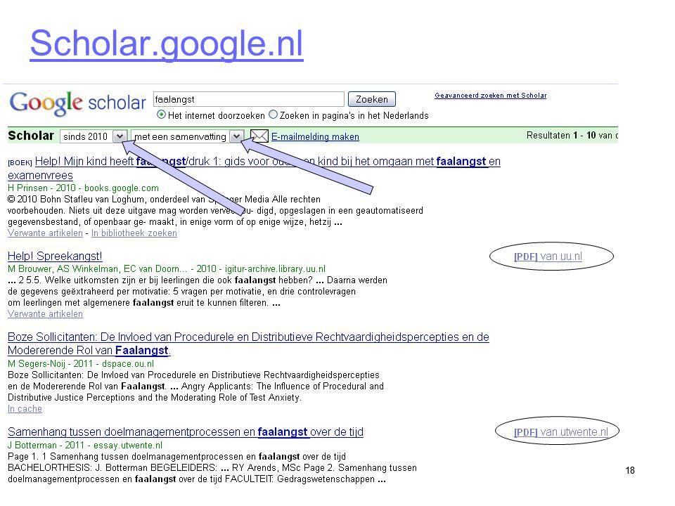18 Scholar.google.nl 18