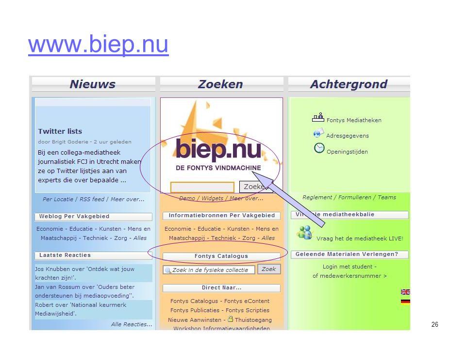 26 www.biep.nu