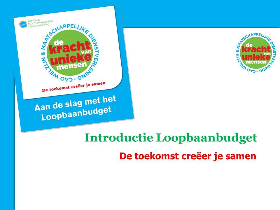 Introductie Loopbaanbudget De toekomst creëer je samen
