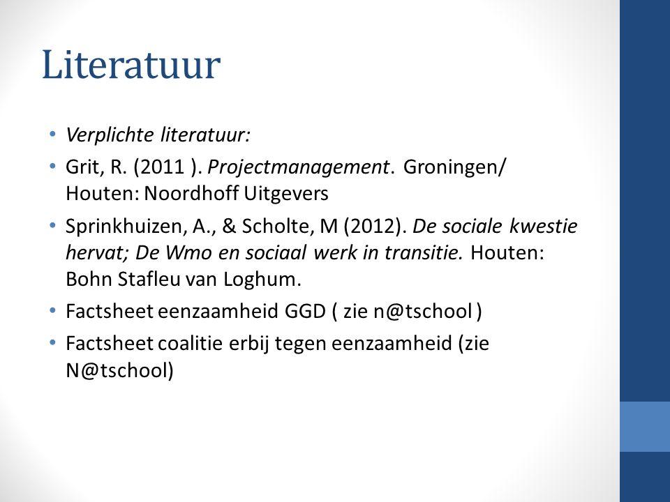 Literatuur Verplichte literatuur: Grit, R.(2011 ).