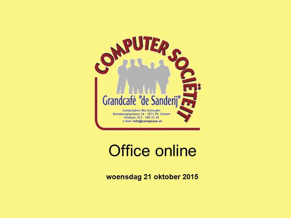 Office online woensdag 21 oktober 2015