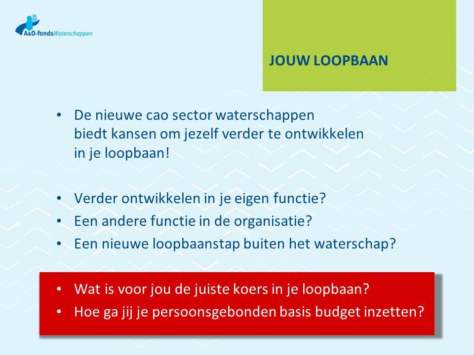 JOUW LOOPBAAN De nieuwe cao sector waterschappen biedt kansen om jezelf verder te ontwikkelen in je loopbaan.