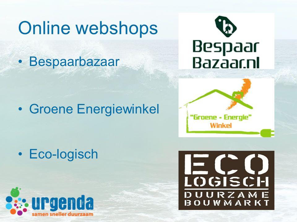 Online webshops Bespaarbazaar Groene Energiewinkel Eco-logisch