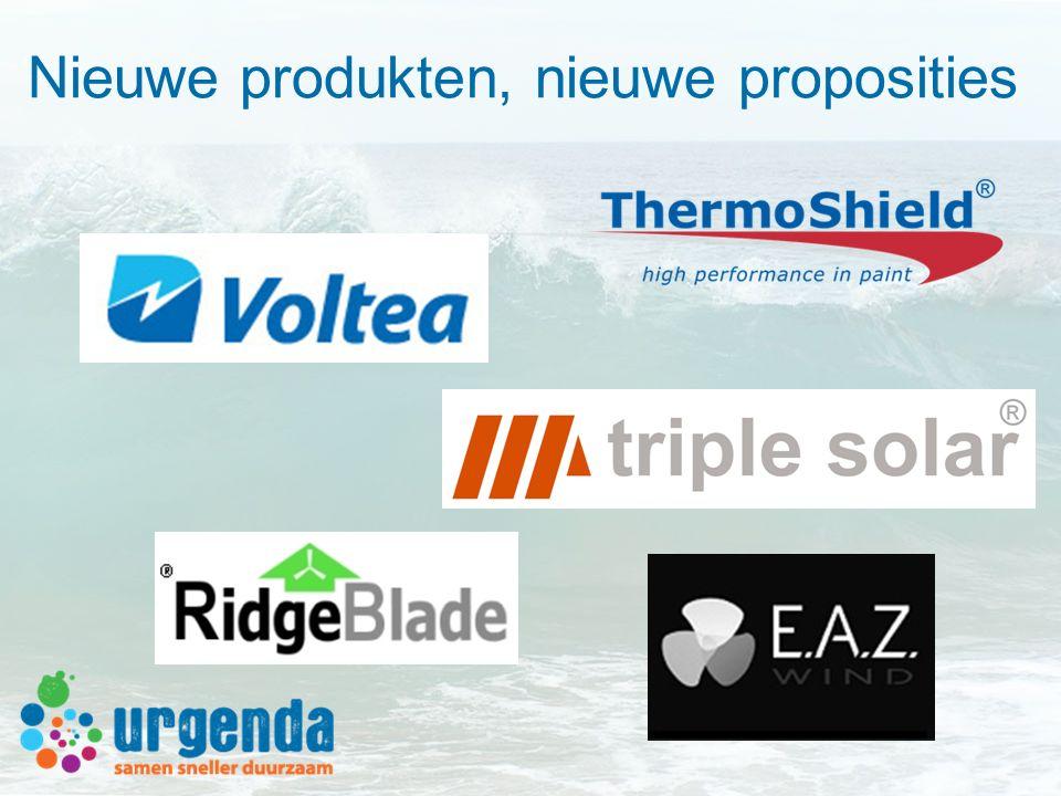 Nieuwe produkten, nieuwe proposities