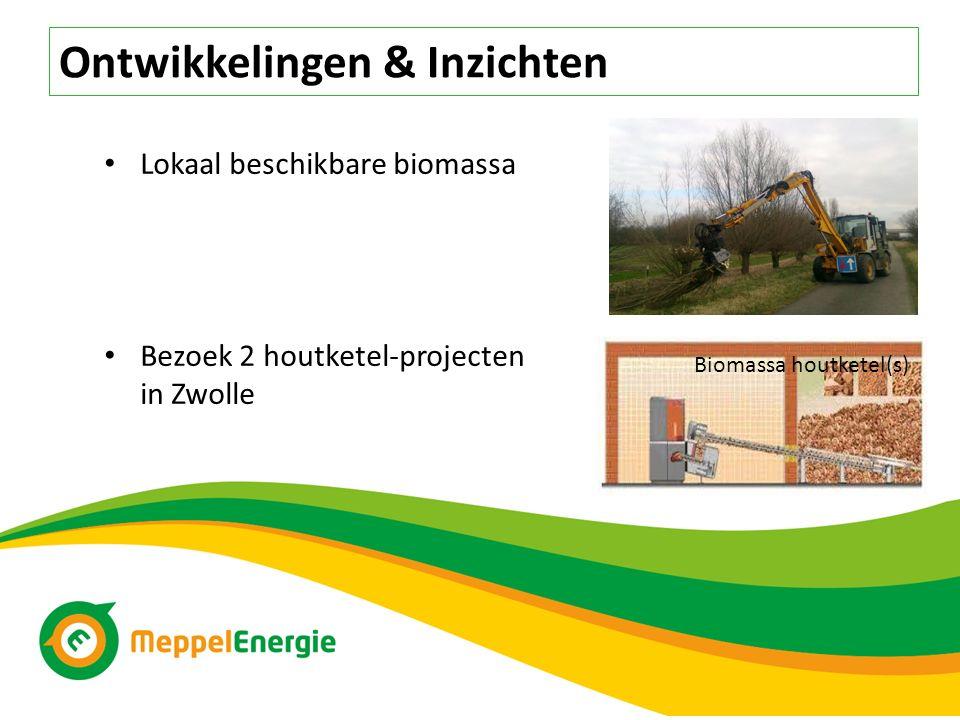 Ontwikkelingen & Inzichten Lokaal beschikbare biomassa Bezoek 2 houtketel-projecten in Zwolle Biomassa houtketel(s)
