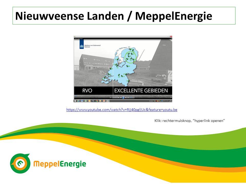 Nieuwveense Landen / MeppelEnergie https://www.youtube.com/watch?v=Rjj40pgljUc&feature=youtu.be Klik: rechtermuisknop, hyperlink openen