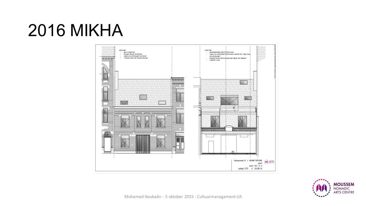 2016 MIKHA Mohamed Ikoubaân - 5 oktober 2015 - Cultuurmanagement UA