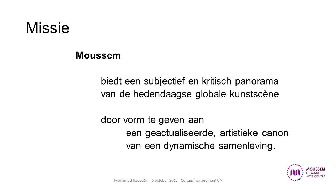 Missie Moussem biedt een subjectief en kritisch panorama van de hedendaagse globale kunstscène door vorm te geven aan een geactualiseerde, artistieke