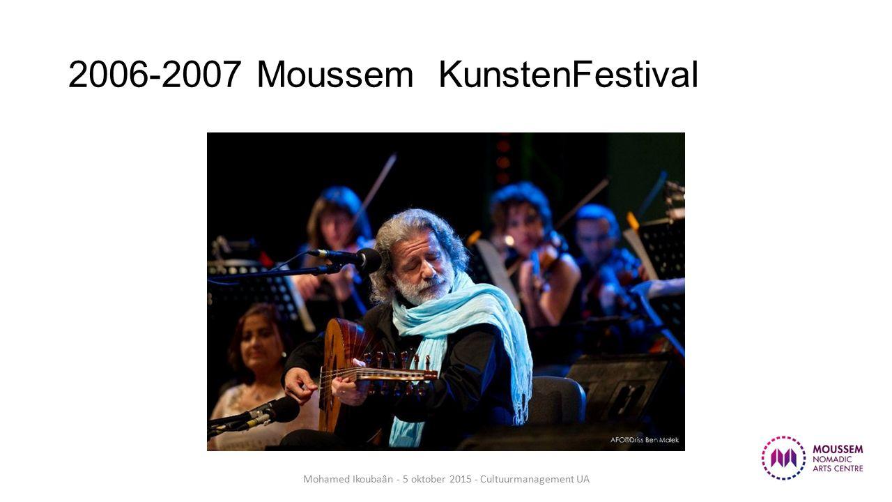 2006-2007 Moussem KunstenFestival Mohamed Ikoubaân - 5 oktober 2015 - Cultuurmanagement UA