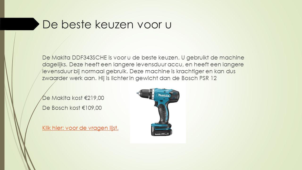 De beste keuzen voor u De Bosch PSR12 is voor u de beste keuze.