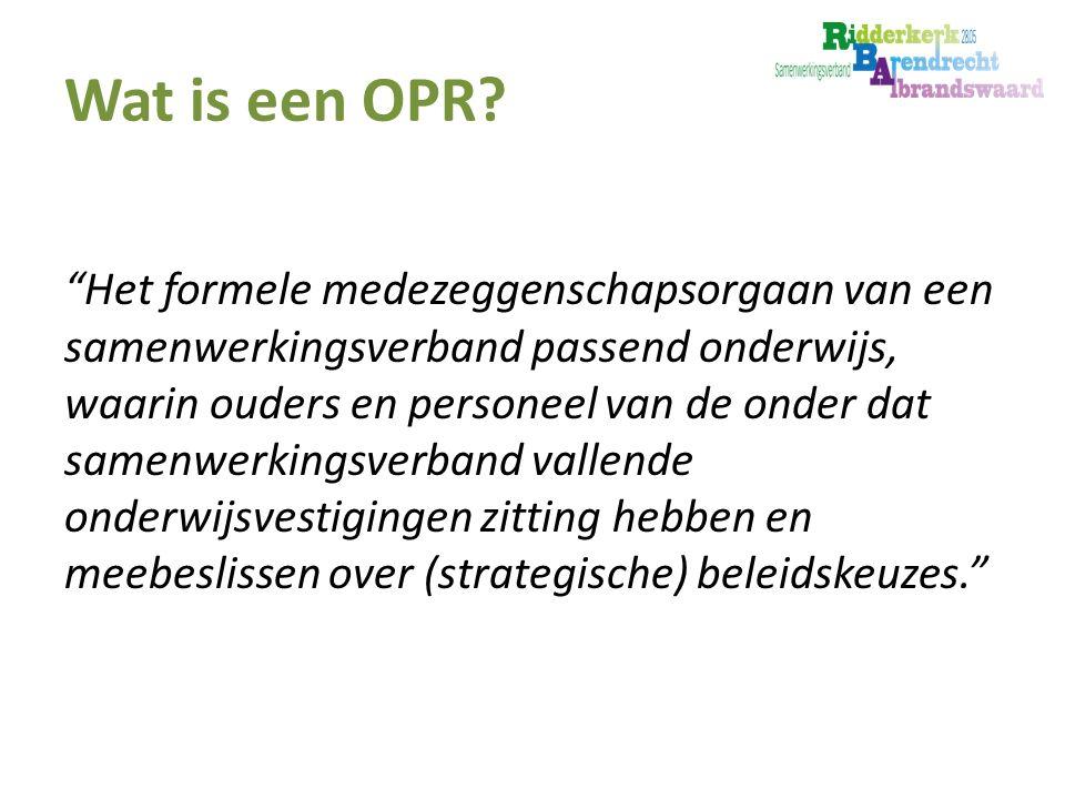 Wat is een OPR.