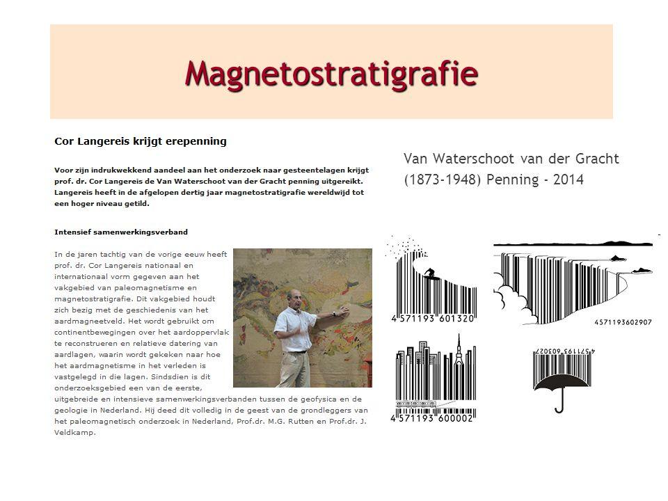 Magnetostratigrafie Van Waterschoot van der Gracht (1873-1948) Penning - 2014
