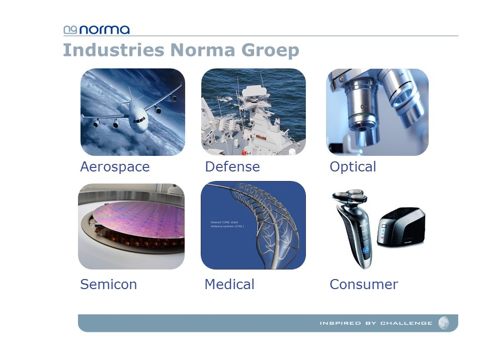 Industries Norma Groep AerospaceOpticalDefense SemiconMedicalConsumer