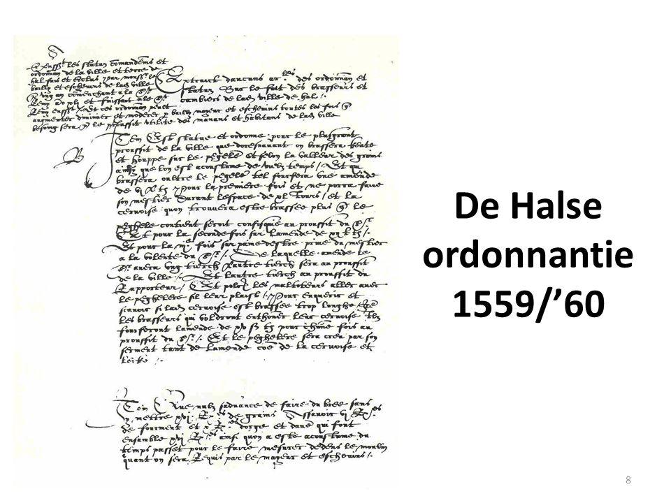 De Halse ordonnantie 1559/'60 8
