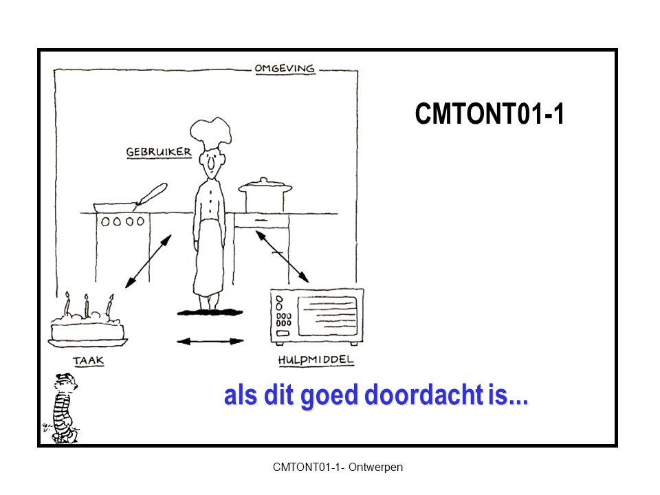 CMTONT01-1- Ontwerpen …zal dit niet snel gebeuren. CMTONT01-1