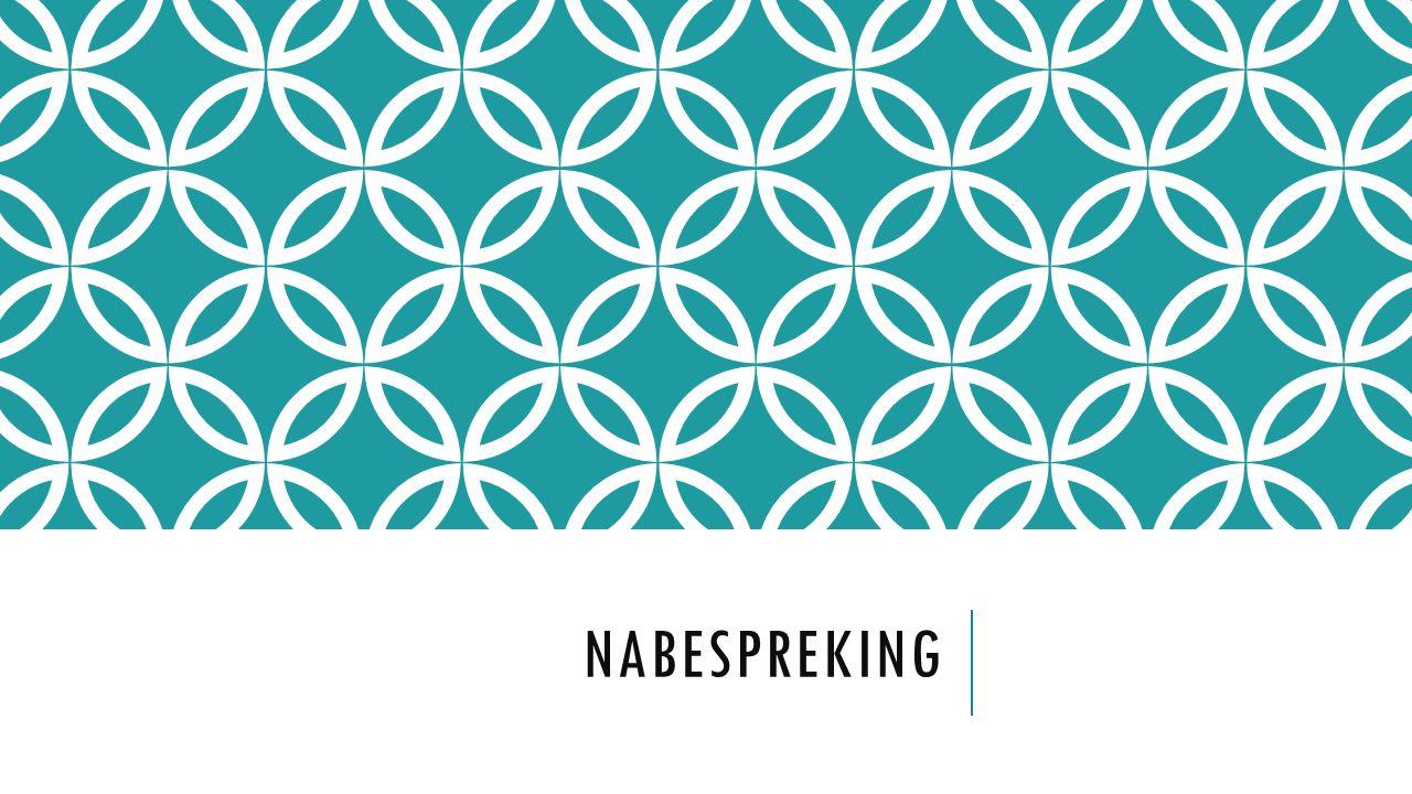 NABESPREKING