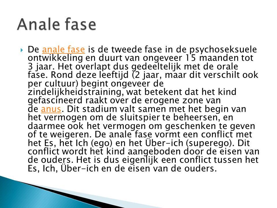  De fallische fase is de derde fase in de psychoseksuele ontwikkeling en duurt van ongeveer 3 tot 5 à 6 jaar.