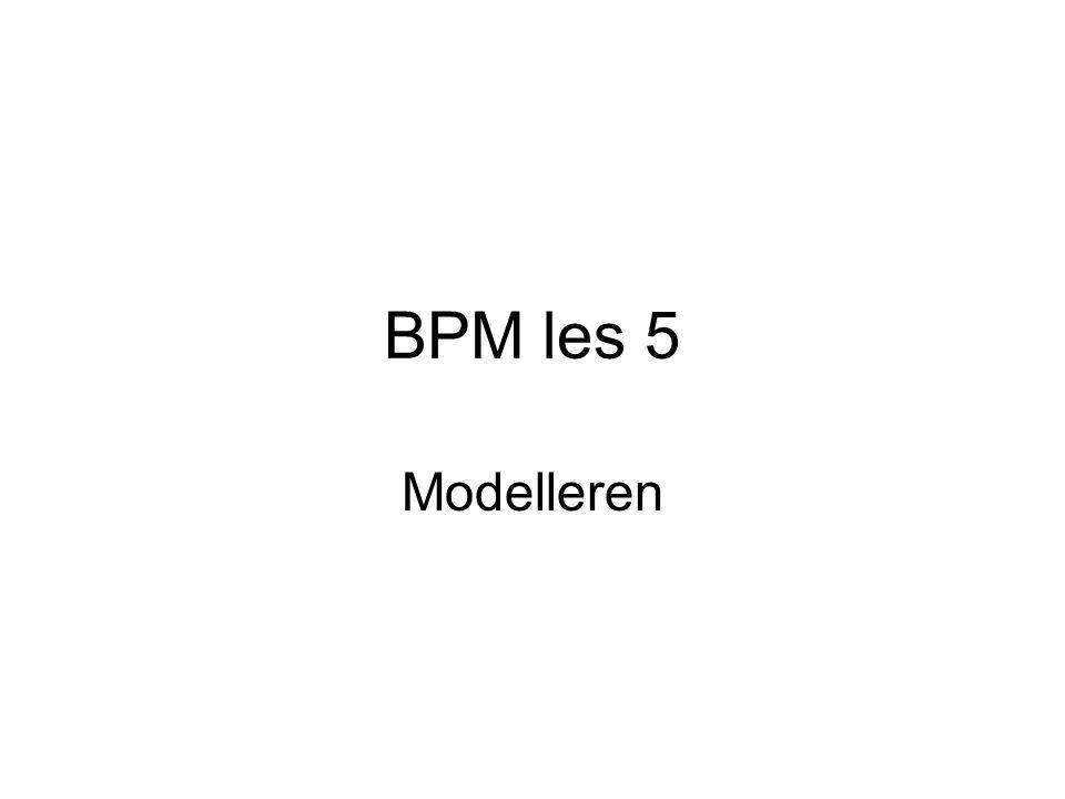 BPM les 5 Modelleren