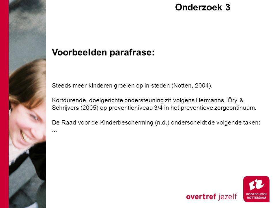 Steeds meer kinderen groeien op in steden (Notten, 2004).