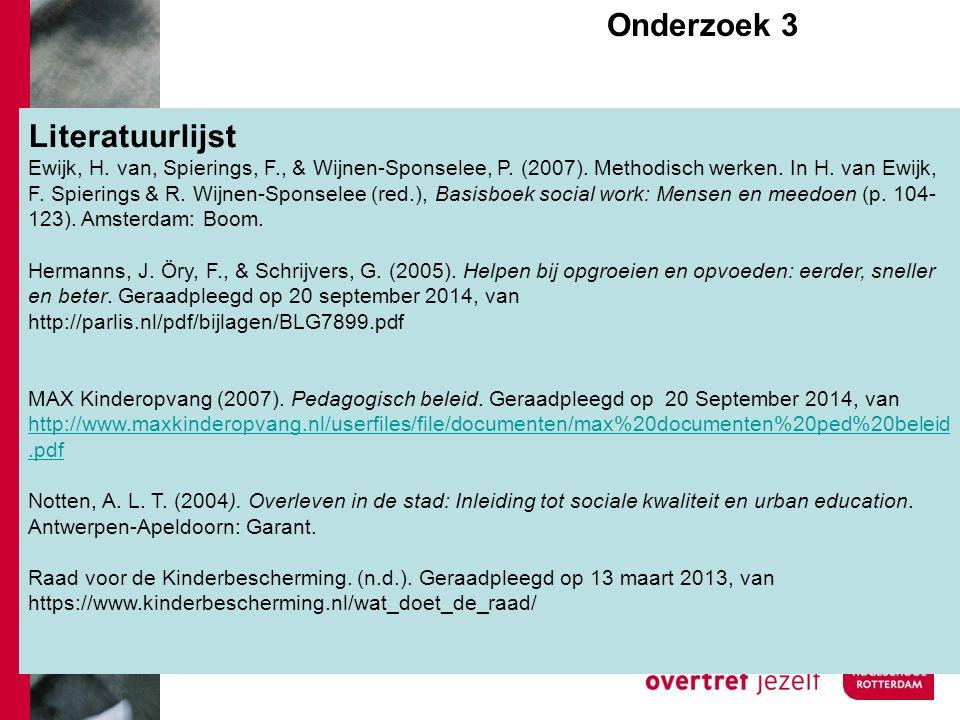 Literatuurlijst Ewijk, H. van, Spierings, F., & Wijnen-Sponselee, P.
