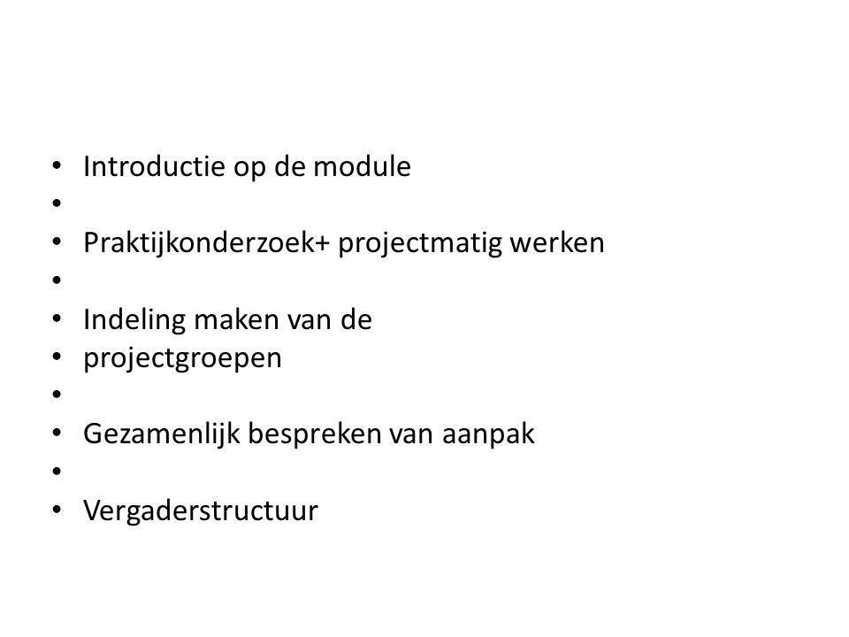 Verplichte literatuur: Donk, C.van der. & Lanen, B.